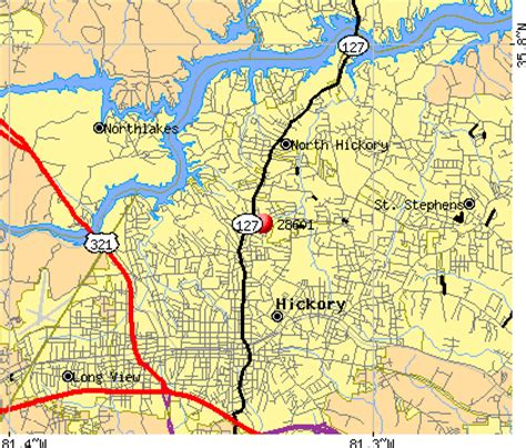 hickory carolina map 28601 zip code hickory carolina profile homes