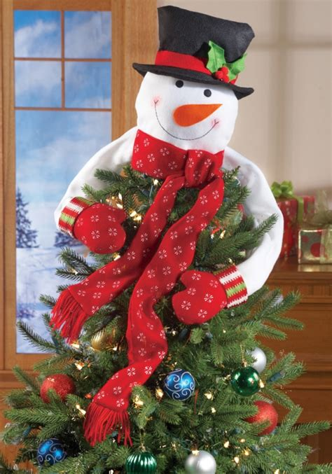 collectionof bestpictures of christmas snowman top of the tree hugger