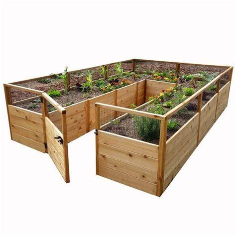 ft   ft cedar raised garden bed natural wood