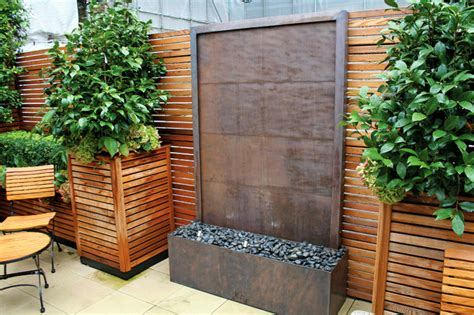 Home Lawn Decoration by Copper Wall Water Fountain Contemporary Landscape