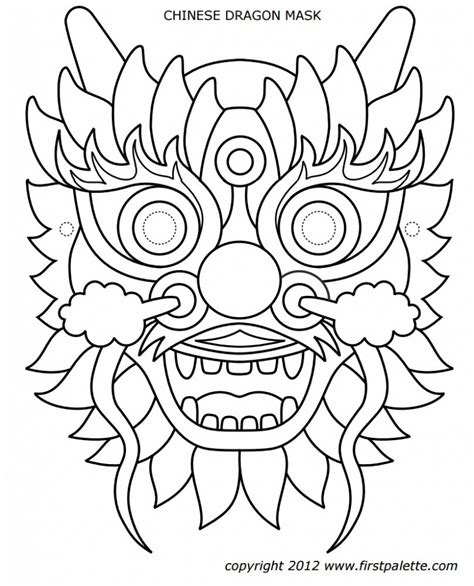 new year mask template mask coloring page triumphdm