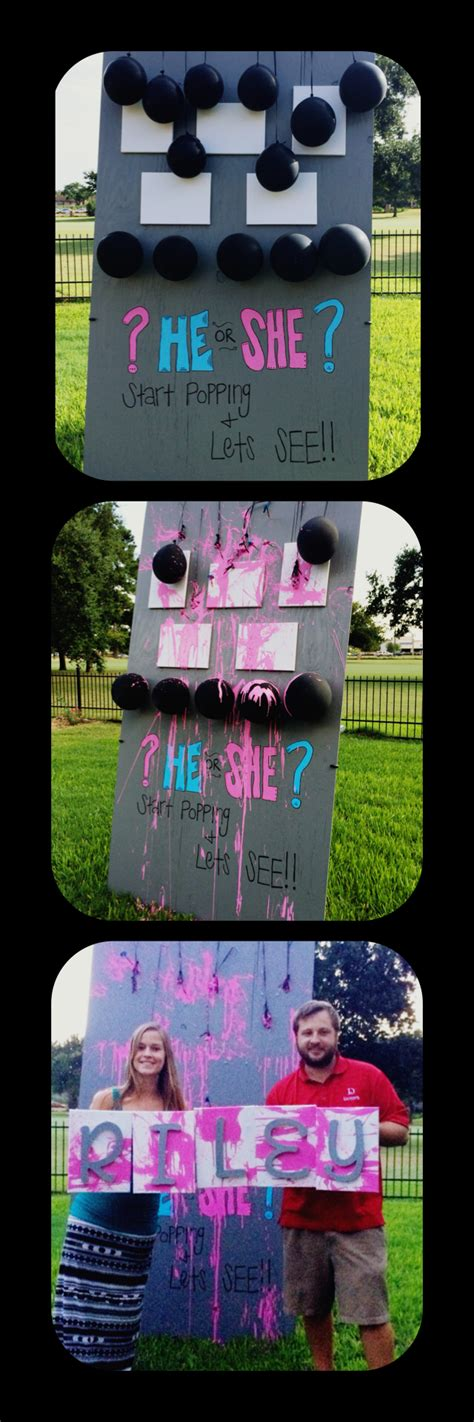 glow in the paint gender reveal gender reveal your guest throw darts at paint filled