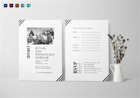 Seminar Response Cards Templates by Seminar Invitation Card Design Template In Psd Word