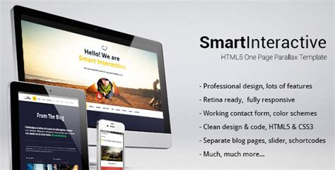 Interactive Html5 Website Templates Smart Interactive Html5 One Page Creative Parallax Jquery Css De