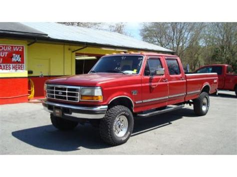 used 1997 ford f350 xlt crew cab 4x4 for sale stock #