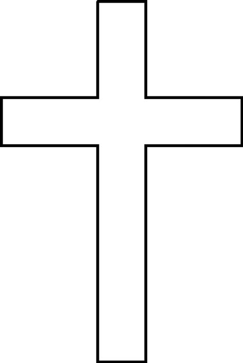 Cross Outline by A Cross Clipart Best