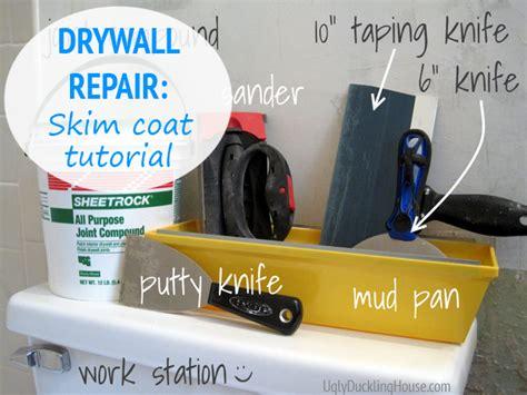 tutorial video repair tool how to fix and skim coat damaged drywall