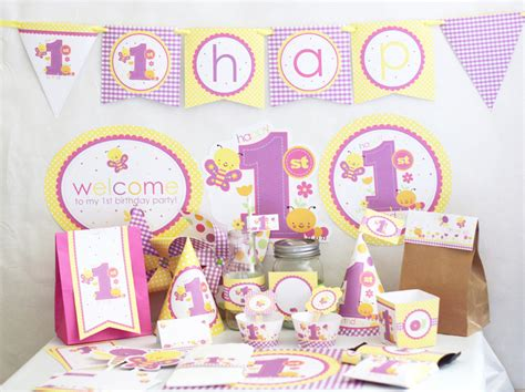 1st birthday theme decorations butterfly 1st birthday decorations printable butterfly