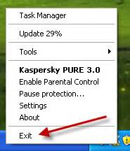 kaspersky pure 3 0 trial reset regedit uninstall kaspersky pure 3 0 correctly and completely