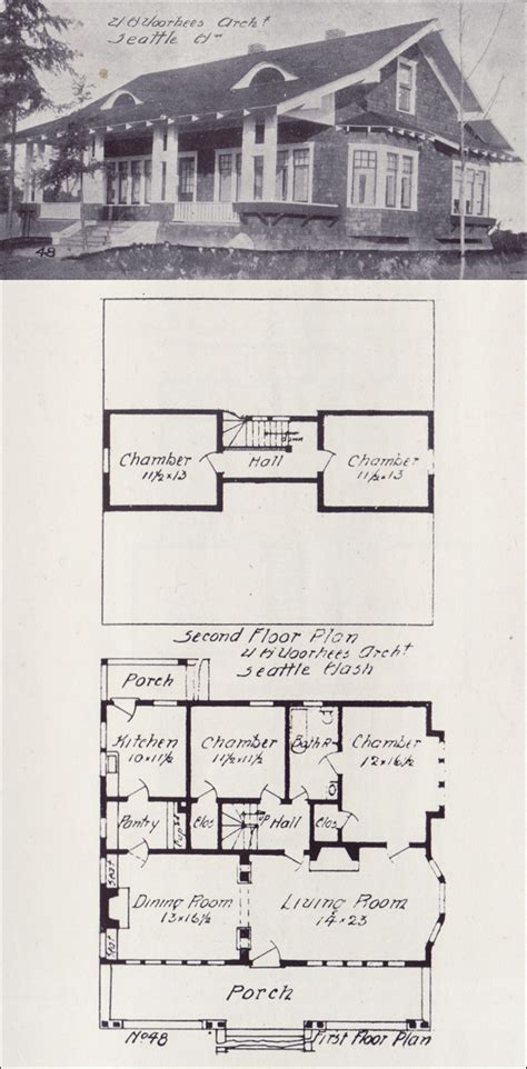 western homes floor plans 1908 side gabled bungalow plan western home builder