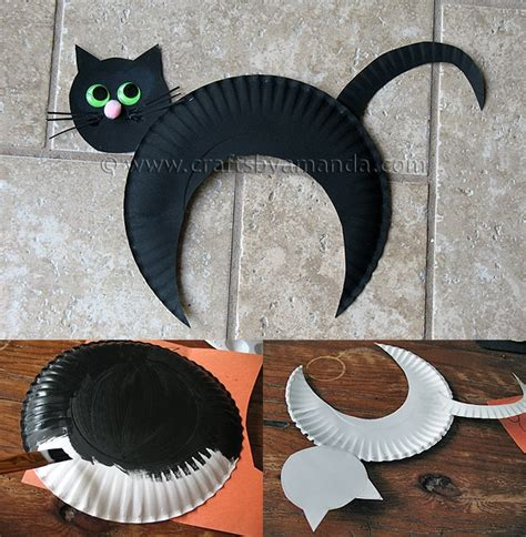 diy cat crafts wonderful diy paper plate black cat
