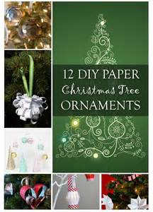 12 diy paper christmas tree ornaments
