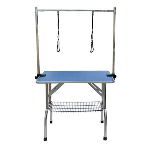 grooming tables barkshire adjustable portable steel frame two grooming table
