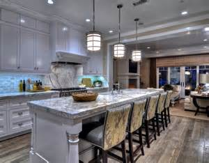stylish beach house with coastal interiors home bunch kitchen with statuary marble countertops cottage