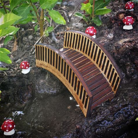 Miniature Terrarium Woden Brige Garden miniature dollhouse diy kit trailer with from simplesmart on etsy