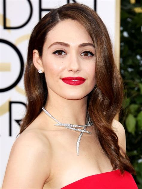 emmy rossum makeup golden globes 2016 every bold lip worth copying people