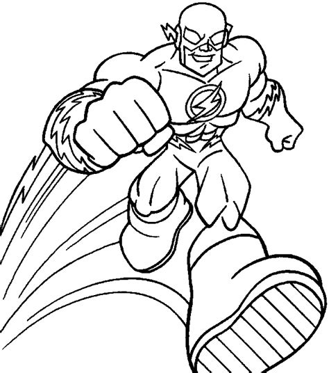 coloring pages flash coloring pages