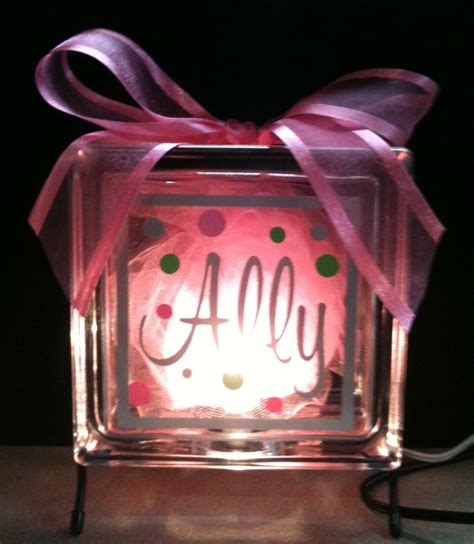 how to make glass blocks with lights glass block nightlight love this things to make