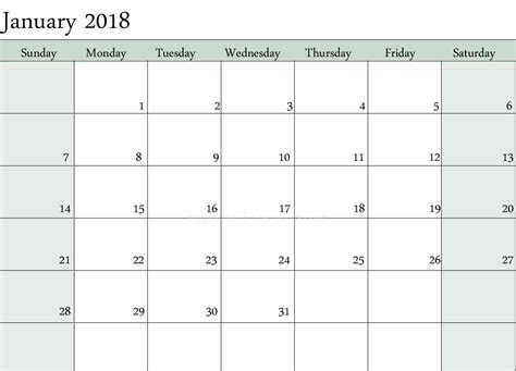 2018 blank calendar monthly templates free download calendarbuzz