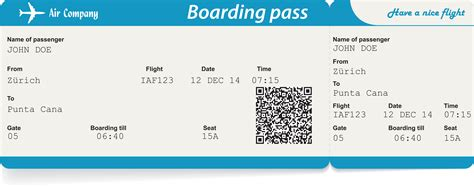 28 boarding pass 7 airline ticket template