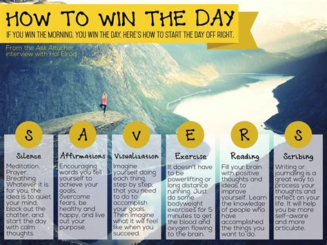 What A Way To Start A Day by Start Your Day Right With The Savers Morning Routine