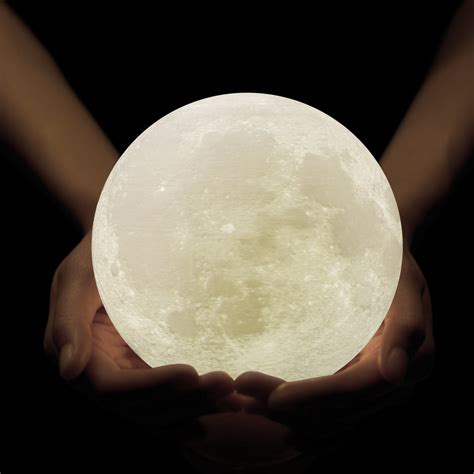 moon and light light 3d printing moon l shade rechargeable lunar
