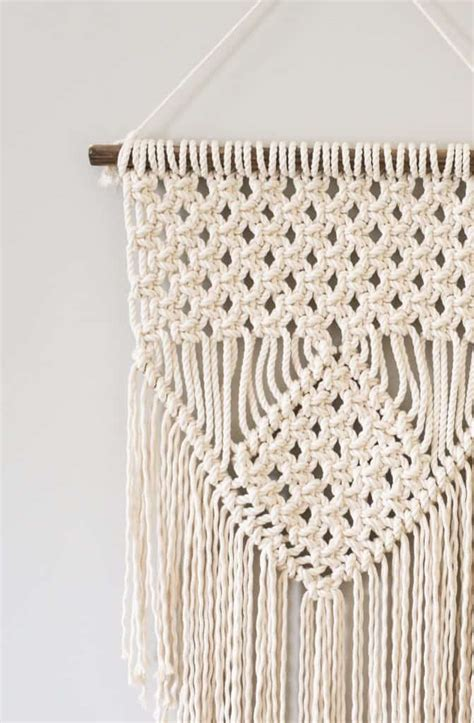 Learning Macrame - learn three basic macrame knots to create your wall hanging