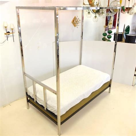 poster beds for sale pace collection chrome four poster canopy single twin bed