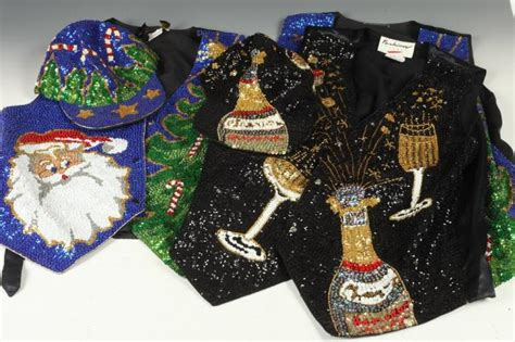 christmas themes clothing holiday themed sequined clothing two christmas vests with o