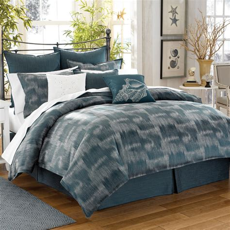 indigo bedding tommy bahama indigo ombre 6pc queen comforter set nip ebay