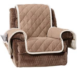Qvc Recliner Covers Sure Fit Reversible Suede To Sherpa Recliner Furniture Cover Page 1 Qvc