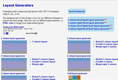 Template Layout Generator | 50 useful css tools and generators for developers noupe