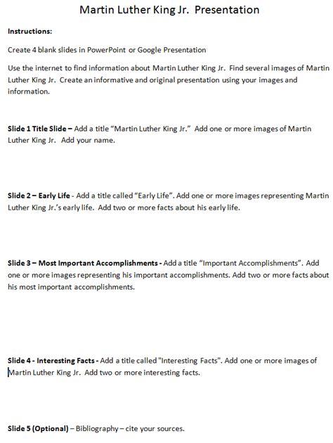martin luther king jr presentation lesson plan k 5