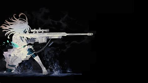 anime sniper rifle anime girls kozaki yuusuke