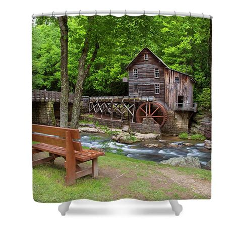 curtain mill glade creek grist mill in summer shower curtain for sale