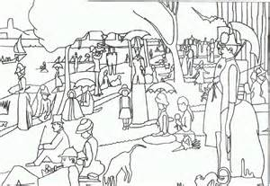 George Seurat Coloring Pages free seurat coloring pages