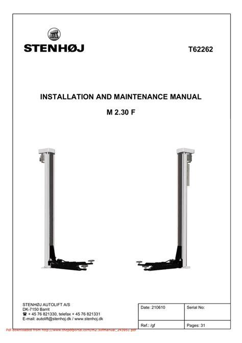 stenhoj 4 post lift manual wiring diagrams wiring