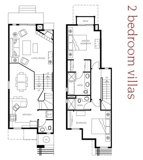 2 bedroom villa floor plans manteo resort waterfront hotel villas