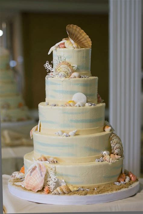 1000 ideas about seashell wedding cakes on wedding cake toppers themed