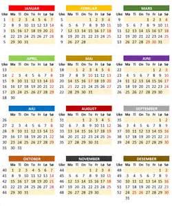 Kalender 2018 Med Helligdager Ukekalender 2018 Ukekalender