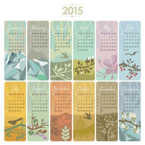 calendar card layout 2015 calendar cards floral vector vector calendar