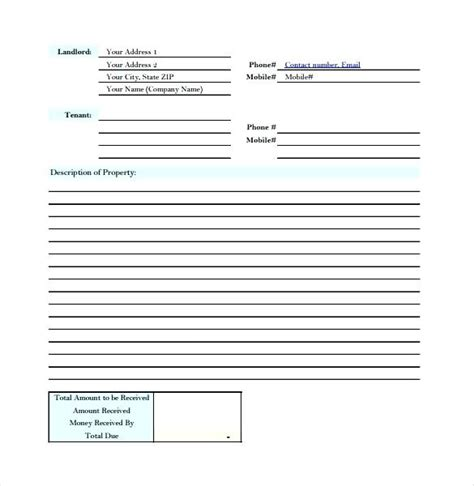 rent deposit receipt template ontario landlord receipt template rent receipt template ontario