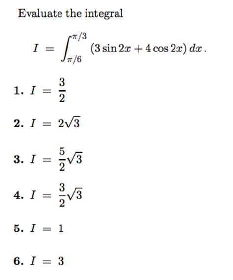 sin city 2 integral solved evaluate the integral i 3 sin 2x 4 cos 2x dx chegg com