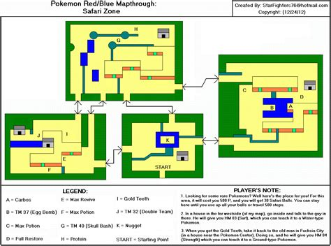 Safari Zone Layout Pokemon Red | pok 233 mon red blue safari zone map gif starfighters76