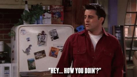 get this – even a caveman knows who 'joey tribbiani' is