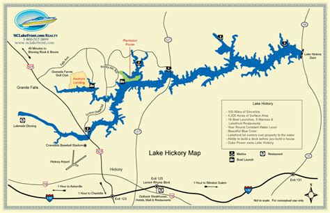 hickory carolina map lake hickory granite falls carolina lake info