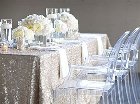 Sequence Table Cloths by Popular Silver Sequin Tablecloths Buy Cheap Silver Sequin