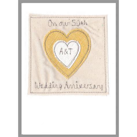 Personalised Wedding Anniversary Cards Uk personalised 50th wedding anniversary card by milly and