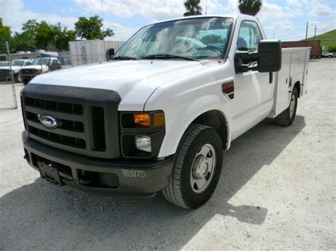 sell used 2008 ford f350 f250 diesel mechanics utility service truck low miles work truck in