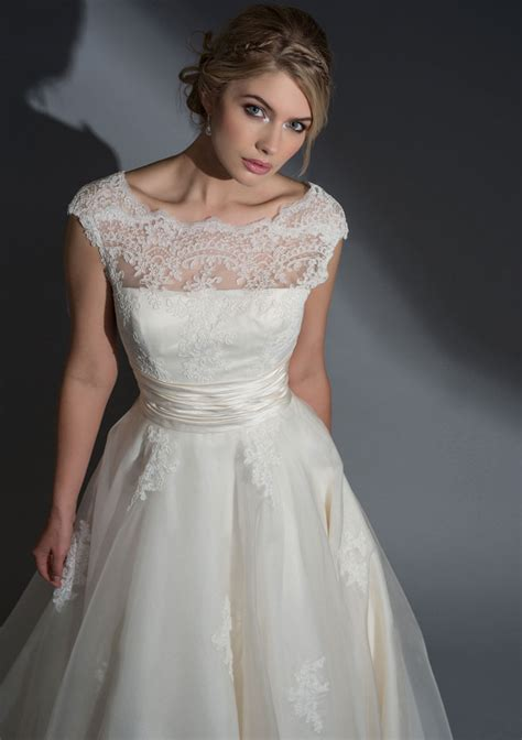 lo frederica silk organza dress with a corded lace bodice